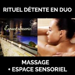Duo Massage 1h30 + accès à l'espace sensoriel 2h
