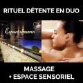 Duo Massage 1h30 + accès à l'espace sensoriel 1h