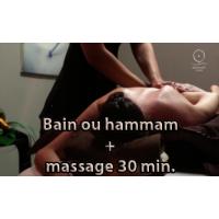 bain privatif 30min + massage 30 min au choix